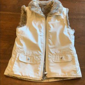 Gap Faux Fur Vest Women's XS